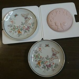 Avon Butterfly Fantasy Porcelain Dishes and soap